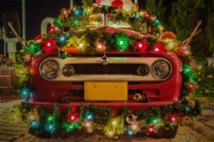 christmas car-458146831
