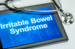 Tablet with the diagnosis Irritable bowel syndrome on the display
