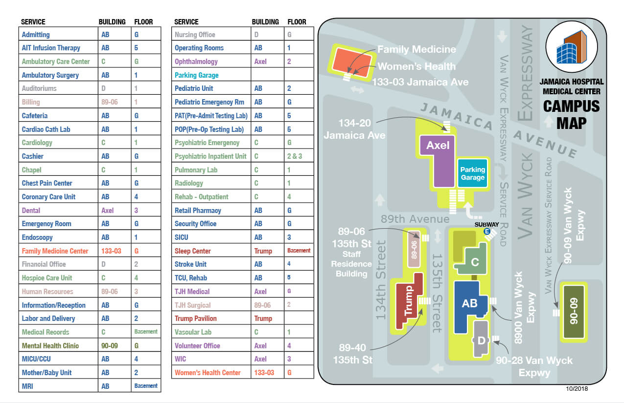 Campus Map - Jamaica Hospital Medical Center on