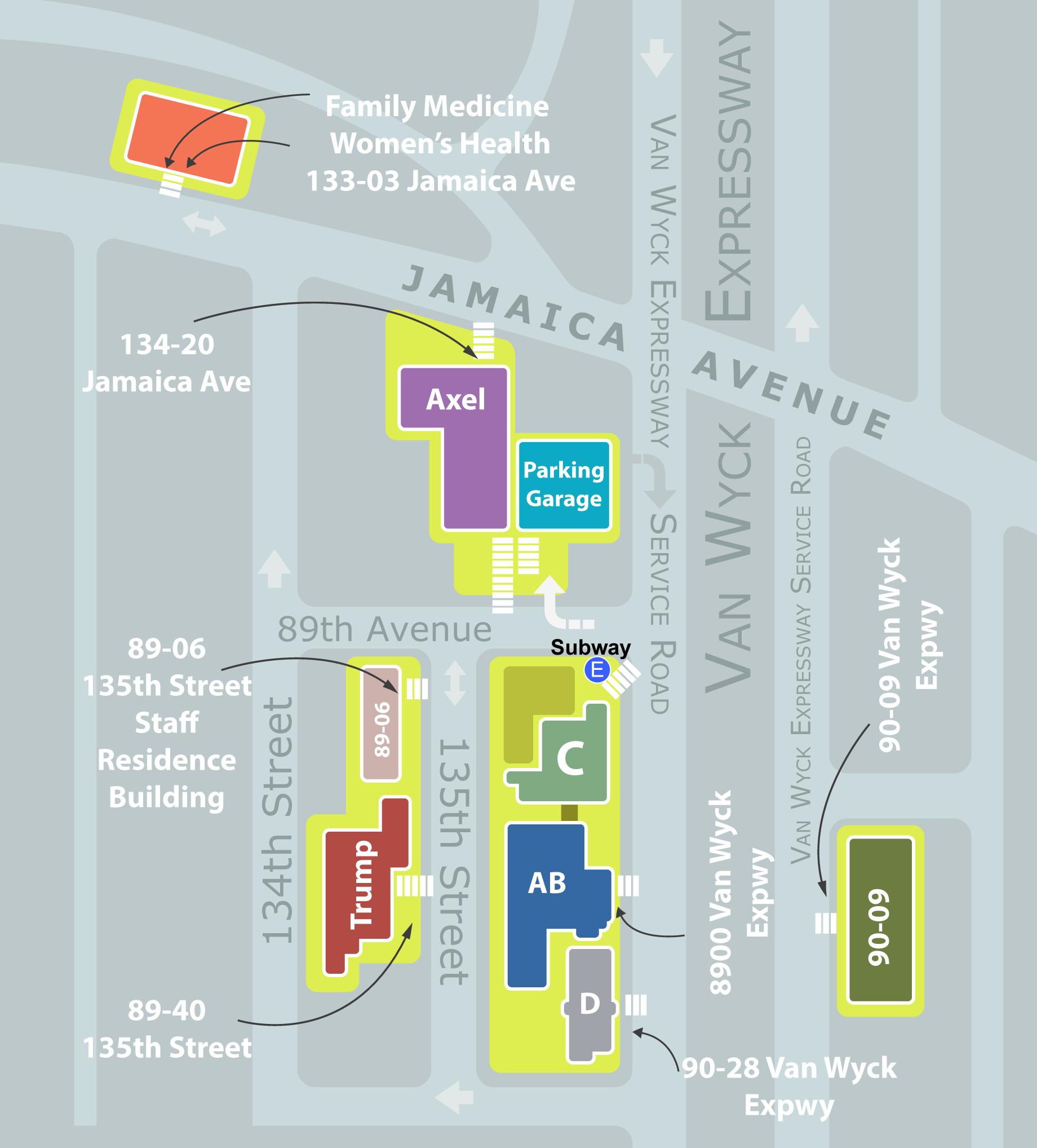 Campus map jamaica hospital medical center malvernweather Images