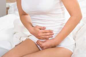 A women with fibroids